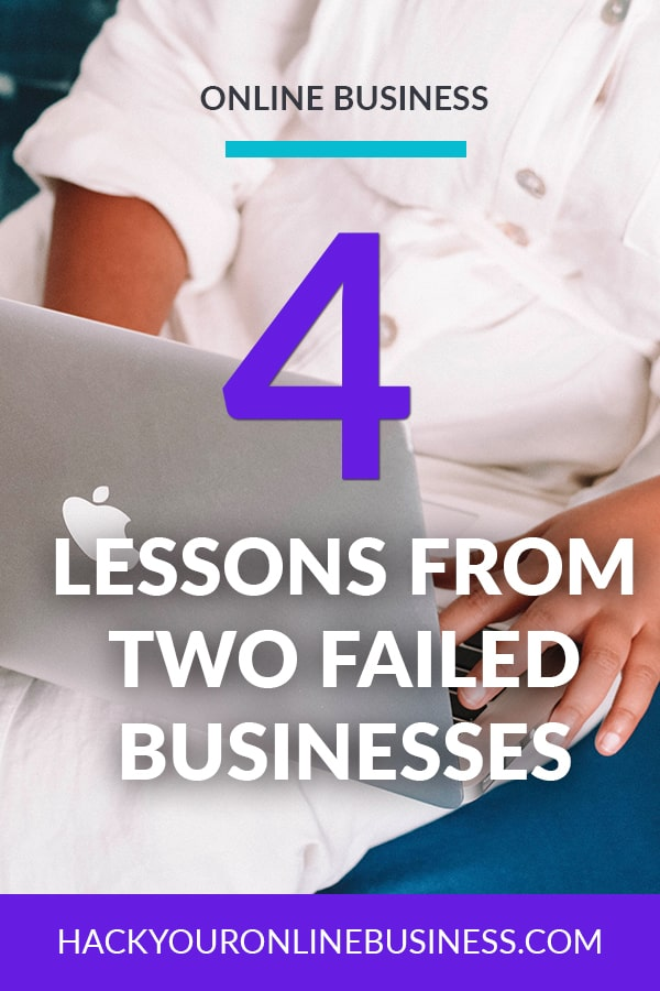 4 Things I Learned From 2 Failed Businesses pin